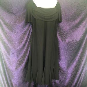 Dressbarn Woman Black Cocktail Midi Dress 18W